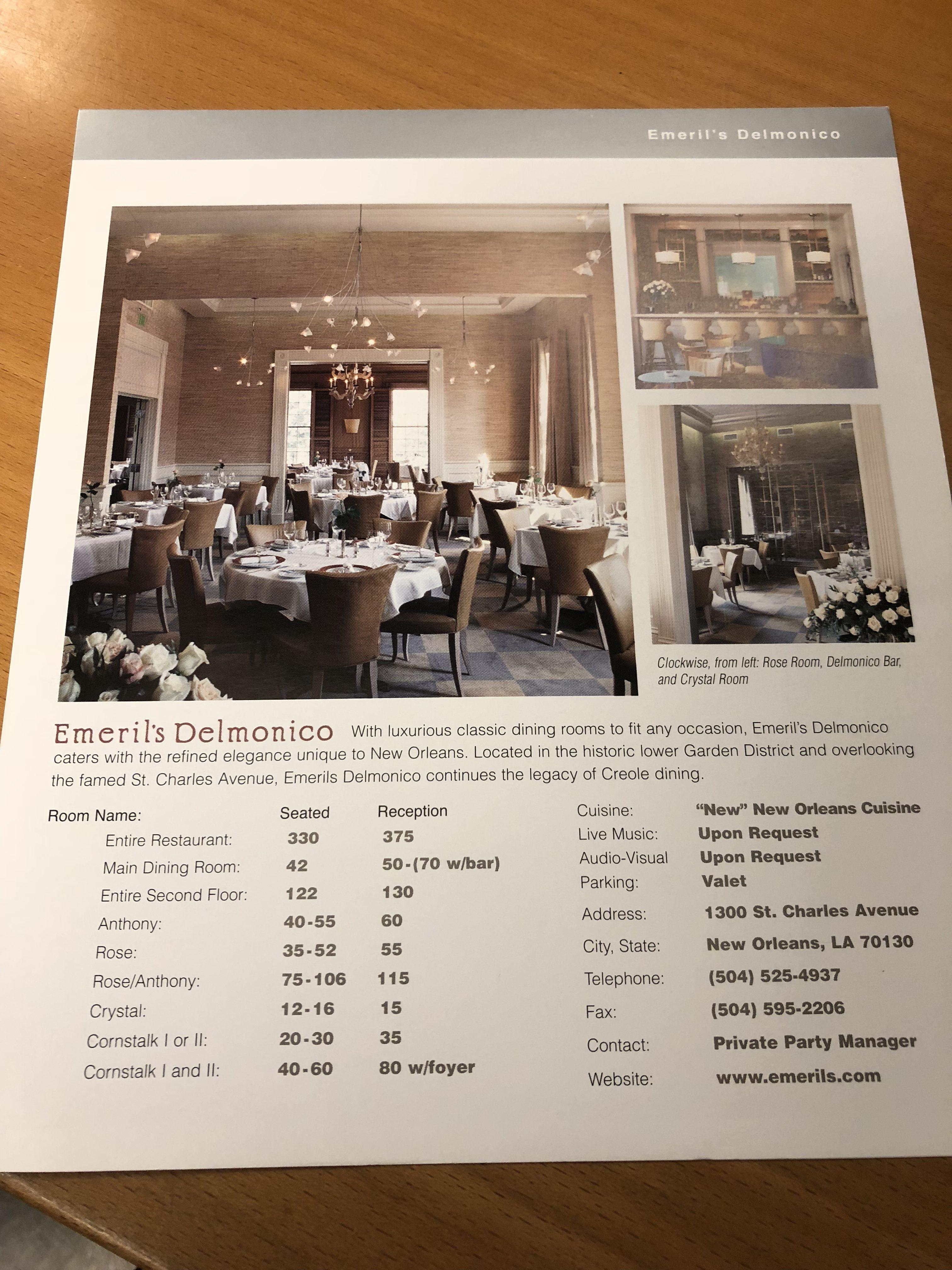Private Dining Emerils Restaurants